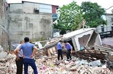 Lào Cai: Thi công tầng hầm làm căn nhà ba tầng liền kề đổ sập