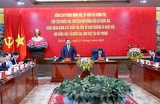Chủ tịch Quốc hội kiểm tra công tác chuẩn bị bầu cử tại Hải Phòng