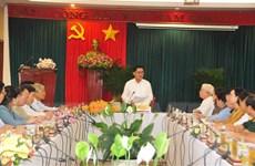 Chủ nhiệm Ủy ban Kiểm tra TW kiểm tra công tác bầu cử tại Bình Phước