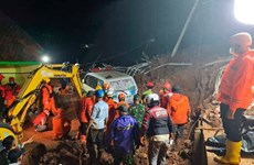Lở đất làm 8 người chết và mất tích tại tỉnh Tây Sumatra của Indonesia