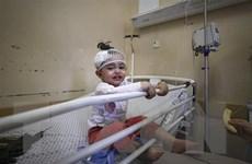 Đám tang đẫm nước mắt của các em nhỏ thiệt mạng tại Gaza