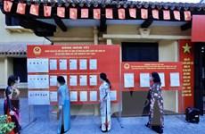 Hình ảnh những người dân thủ đô Hà Nội bắt đầu đi bầu cử