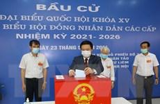 Nhiều đồng chí lãnh đạo Đảng, Nhà nước bỏ phiếu bầu cử tại Hà Nội