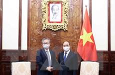 Chủ tịch nước Nguyễn Xuân Phúc tiếp Đại sứ Nhật Bản tại Việt Nam
