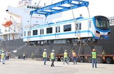 Thêm hai đoàn tàu metro số 1 được nhập về Thành phố Hồ Chí Minh