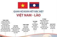 [Infographics] Quan hệ đoàn kết đặc biệt Việt Nam-Lào