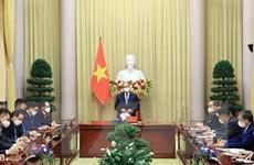 Chủ tịch nước gặp mặt Chủ tịch Hội người Hàn Quốc tại Việt Nam