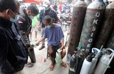 Người Indonesia chật vật tìm oxy giữa đại dịch COVID-19