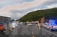 Cảnh sát giao thông dẫn đường người dân từ TP.HCM và các tỉnh về quê
