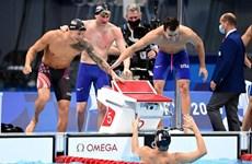 Mỹ giành huy chương vàng nội dung 4x100m bơi tự do đồng đội nam