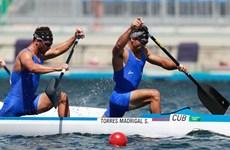 Cặp vận động viên Cuba xác lập kỷ lục ở nội dung canoe đôi nam 1.000m