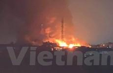 Hà Nội: Cháy lớn tại xưởng cồn ở xã An Thượng, huyện Hoài Đức