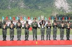 Quang cảnh lễ bế mạc và trao giải Army Games 2021 tại Miếu Môn