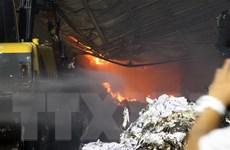 Hải Phòng: Cháy lớn thiêu rụi nhà xưởng xây ngay dưới lưới điện