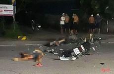 Hà Tĩnh: Hai xe máy va chạm làm 3 người tử vong tại chỗ tại Nghi Xuân