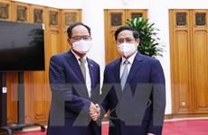 Thủ tướng Phạm Minh Chính tiếp Đại sứ Hàn Quốc Park Noh Wan