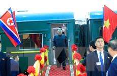 Khoảnh khắc Chủ tịch Triều Tiên Kim Jong-un đặt chân đến Việt Nam