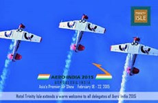 """Khoảng 330 công ty nước ngoài sẽ tham gia """"Aero-India 2015"""""""