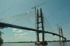 Campuchia khánh thành cầu dây văng đầu tiên qua sông Mekong