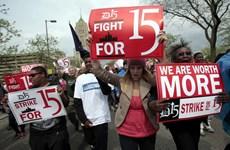 Mỹ: Đình công đòi tăng lương tối thiểu tại thành phố New York