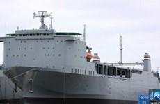 Cận cảnh tàu đặc dụng Mỹ xử lý vũ khí hóa học của Syria