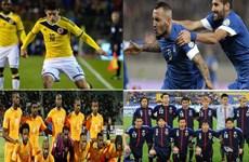 Danh sách chính thức các đội bảng C tại World Cup 2014