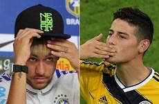 Neymar đánh giá cao tài năng đối thủ James Rodriguez