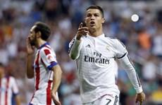 Ronaldo tái diễn hành động thô thiển đối với cầu thủ Atletico