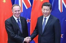 Trung Quốc-New Zealand nâng tầm quan hệ lên đối tác chiến lược
