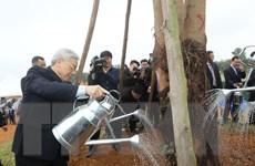 Tổng Bí thư phát động Tết trồng cây tại Khu Công nghệ cao Hòa Lạc