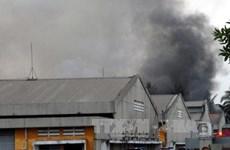 TP.HCM: Đã khống chế được vụ hỏa hoạn tại Khu chế xuất Tân Thuận
