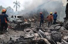 Hiện trường rơi máy bay kinh hoàng ở Indonesia, 113 người chết
