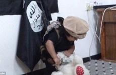 IS lại gây sốc khi tung video bé trai 3 tuổi chặt đầu gấu bông