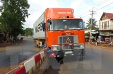 Bình Phước: Xe container mất lái, lao thẳng lên dải phân cách