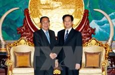 Thủ tướng Nguyễn Tấn Dũng hội kiến với Chủ tịch Quốc hội Lào