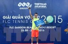 Hoàng Thành Trung giành chức vô địch giải quần vợt FLC 2015