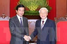 Tổng Bí thư Nguyễn Phú Trọng tiếp Đại sứ Lào đến chào từ biệt