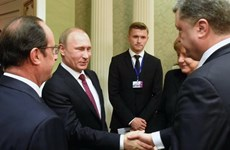 """Lãnh đạo nhóm """"Bộ Tứ Normandy"""" đàm phán về tình hình Ukraine"""