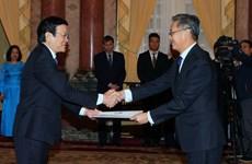Chủ tịch nước Trương Tấn Sang tiếp các Đại sứ trình quốc thư
