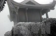 Xuất hiện hiện tượng băng tuyết trên núi Yên Tử ở Quảng Ninh