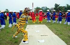 Độc đáo nghệ thuật hát múa Ải Lao ở hội Gióng làng Phù Đổng
