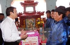 Chủ tịch nước thăm quê hương Hải đội hùng binh Hoàng Sa