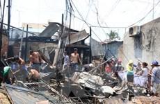 Kiên Giang: Hỏa hoạn thiêu rụi hoàn toàn 2 căn nhà bán tạp hóa
