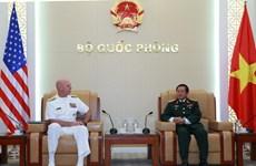 Đại tướng Đỗ Bá Tỵ tiếp Tư lệnh Hạm đội Thái Bình Dương