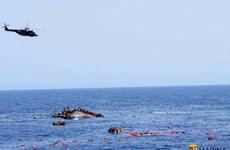 Lật thuyền chở người di cư ở Libya, hàng chục người thiệt mạng