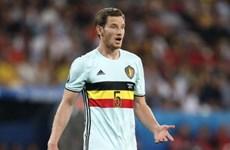 """Tuyển thủ Bỉ chia tay EURO ngay trước """"đại chiến"""" Xứ Wales"""