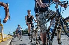 Liên minh châu Âu tổ chức sự kiện đạp xe tại Cuba vì môi trường