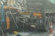 Tai nạn trên cao tốc Nội Bài-Lào Cai khiến 6 người thương vong