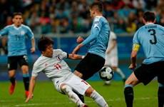 Copa America 2019: Khách mời Nhật Bản cầm hòa Uruguay
