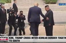 Khoảnh khắc bước chân lịch sử của Tổng thống Donald Trump qua DMZ